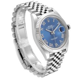 Rolex Datejust 41 Steel White Gold Blue Dial Steel Mens Watch 126334 Unworn