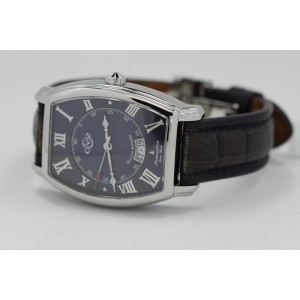 Gevrille GV2 4906 Stainless Steel & Leather Blue Dial Automatic 39mm Mens Watch