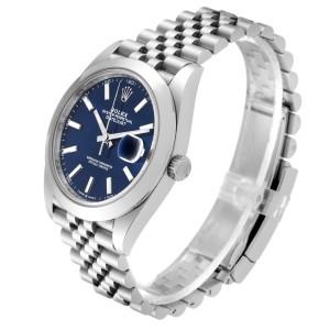 Rolex Datejust 41 Blue Dial Jubilee Bracelet Steel Mens Watch 126300 Unworn