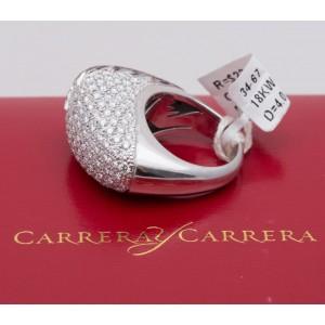 Carrera y Carrera 18K White Gold Diamond Tourmaline and Sapphire Ring