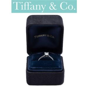 Tiffany & Co 18K White Gold Diamond Ring