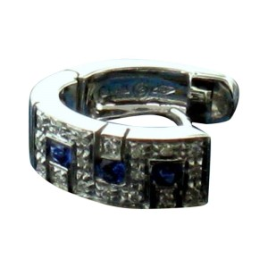 Salvini 18 kt White Gold with Diamonds and Sapphires Earrings
