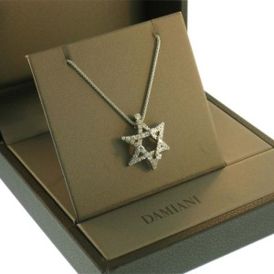 Damiani 18kt White Gold Diamond Stella Necklace