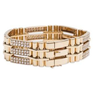 Van Cleef and Arpels Diamond 18K Yellow Gold Bracelet