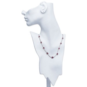 Michael Beaudry Diamond and Ruby Necklace Platinum