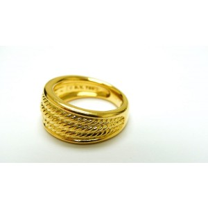 David Yurman 18K Yellow Gold Unique Cable Signature Ring