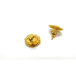 22K Yellow Gold With Design Lady Earring