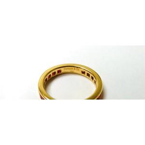 Tiffany & Co. 18K Yellow Gold Ruby Eternity Engagement Band