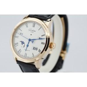 Glashutte Original Senator W10002220505 18K Rose Gold & Leather 40mm Watch