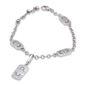 Bvlgari 18K White Gold Parentesi Diamond Bracelet