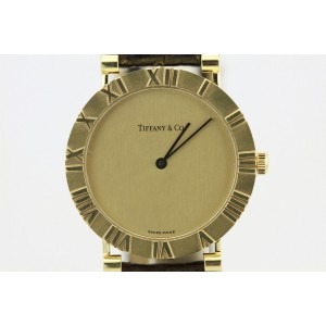 Tiffany & Co. Atlas D286753 18K Yellow Gold Quartz 31mm Unisex Watch