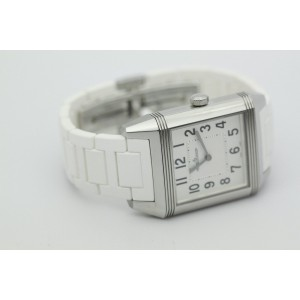 Jaeger LeCoultre Reverso Squadra Q7068720 Stainless Steel & Rubber Quartz 31mm Womens Watch