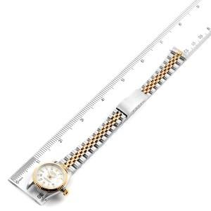 Rolex Datejust Steel Yellow Gold White Dial Ladies Watch 69173 Box