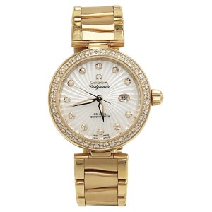 Omega Deville Ladymatic O42565342055001 18K Rose Gold & Diamonds 34mm Womens Watch 2017
