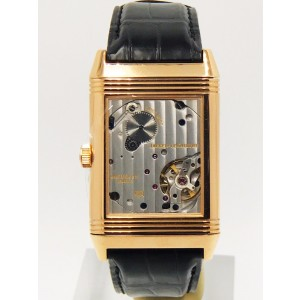 Jaeger LeCoultre Reverso Q3732470 18K Rose Gold & Alligator Leather Manual 30mm Mens Watch