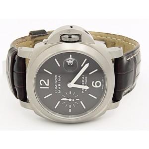 Panerai Luminor PAM240 Titanium & Leather Automatic Brown Dial 44.5mm Mens Watch