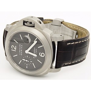 Panerai Luminor PAM240 Titanium & Leather Automatic Brown Dial 44.5mm Mens Watch