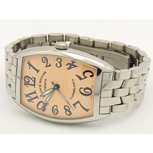 Franck Muller Casablanca 2852 Stainless Steel with Pink Dial 31mm Womens Watch