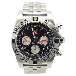 Breitling Chronomat B01 AB0110 Stainless Steel Black Dial Automatic 44mm Mens Watch