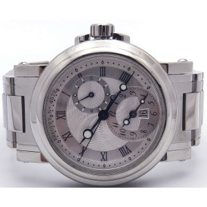 Breguet Marine GMT 5857ST12SZO Stainless Steel Automatic Silver Dial 42mm Mens Watch