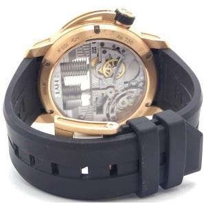 Hyt H1 148-PG-22-GF-CR 18K Rose Gold & Rubber Manual 49mm Mens Watch