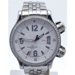 Jaeger LeCoultre Master Compressor 148.8.60 Stainless Steel Automatic Diamond Bezel 37mm Womens Watch