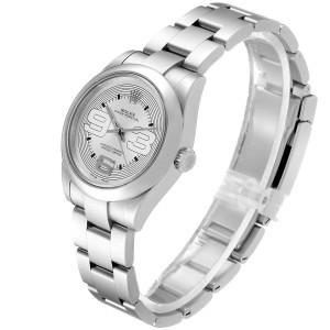 Rolex Midsize 31 Silver Dial Domed Bezel Steel Ladies Watch 177200