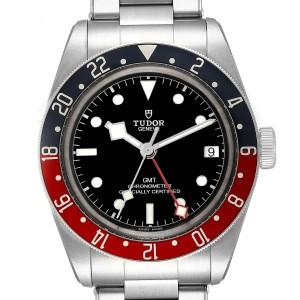 Tudor Heritage Black Bay GMT Pepsi Bezel Mens Watch 79830RB Box Paper
