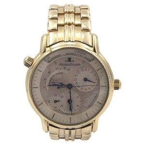 Jaeger LeCoultre Master Geographic 169.1.92 18K Yellow Gold 38mm Mens Watch