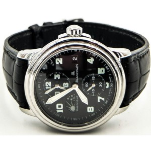 Blancpain Leman Timezone 2160-1130M-53 Stainless Steel 38mm Mens Watch