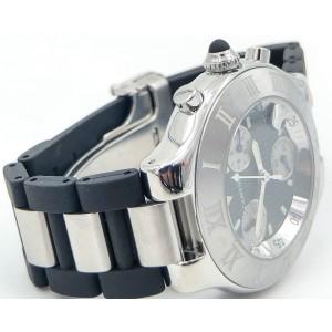 Cartier 21 Chronoscaph 2424 38mm Mens Watch