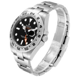 Rolex Explorer II 42 Black Dial Orange Hand Steel Mens Watch 216570 Box