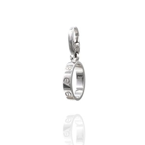 Cartier Baby Love 18K White Gold Charm Pendant