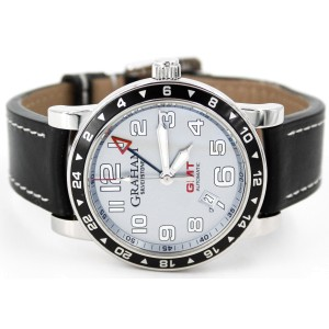Graham Silverstone Time Zone AN-2TZAS 42mm Mens Watch