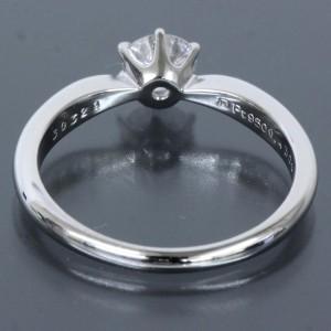 Mikimoto Platinum Diamond Ring Size 5.5