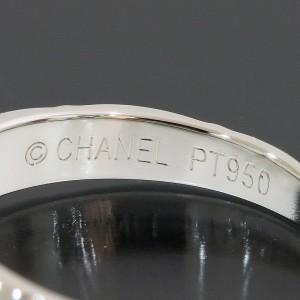 Chanel Platinum Diamond Ring Size 4.5