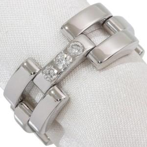 18K White Gold Diamond Ring Size 7.5
