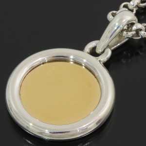 Hermes Serie 18K Yellow Gold, Sterling Silver Pendant