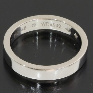 Cartier 1P Platinum Diamond Wedding Ring Size 4