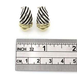 David Yurman Sterling 14K Yellow Gold, Sterling Silver Earrings