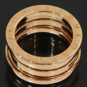 Bulgari Bvlgari 18K Rose Gold Ring Size 3.75