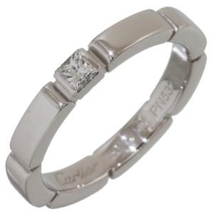 Cartier 18K White Gold Diamond Ring Size 4