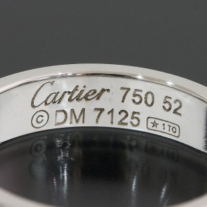 Cartier 18K White Gold Wedding Ring