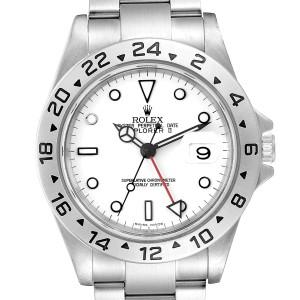Rolex Explorer II White Dial Automatic Steel Mens Watch 16570 Box