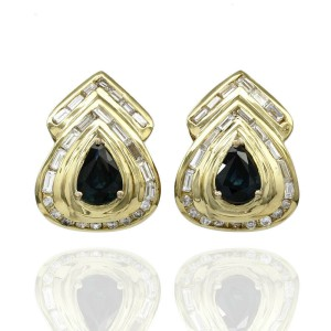 Sapphire and Diamond Earrings in Gold