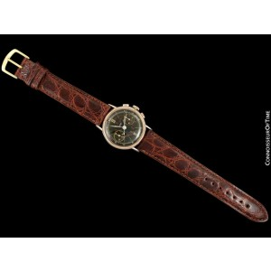 1940's TISSOT Omega 28.9 (Lemania 13CH) Rare Vintage Mens Midsize Chrongraph