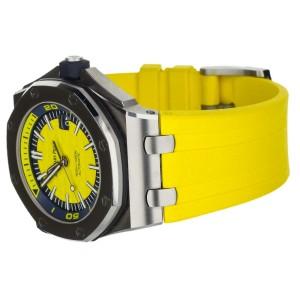 Audemars Piguet Royal Oak Offshore Diver Yellow Dial 15710ST.OO.A051CA.01 Full S
