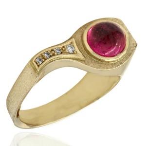 Harlado Burle Marx Pink Tourmaline and Diamond Ring