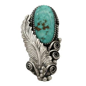 Navajo Sterling Silver & Gem Grade Turquoise Ring