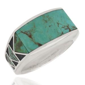 David Yurman Southwest Inlaid Turquiose Ring